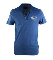 Vanguard Poloshirt Mouline Blauw