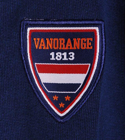 Detail VanOrange Vest Print Donkerblauw 02