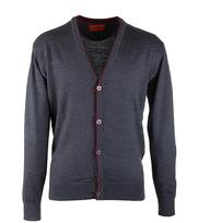 Vest Merino Wol Antraciet Button