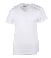 Wit T-Shirt 2Pack V-neck