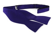 Self Tie Bow Tie Deep Purple F55