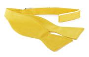 Selbstbinder Fliege Seide Gelb F70