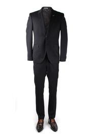 Detail Zwart Kostuum Suitable