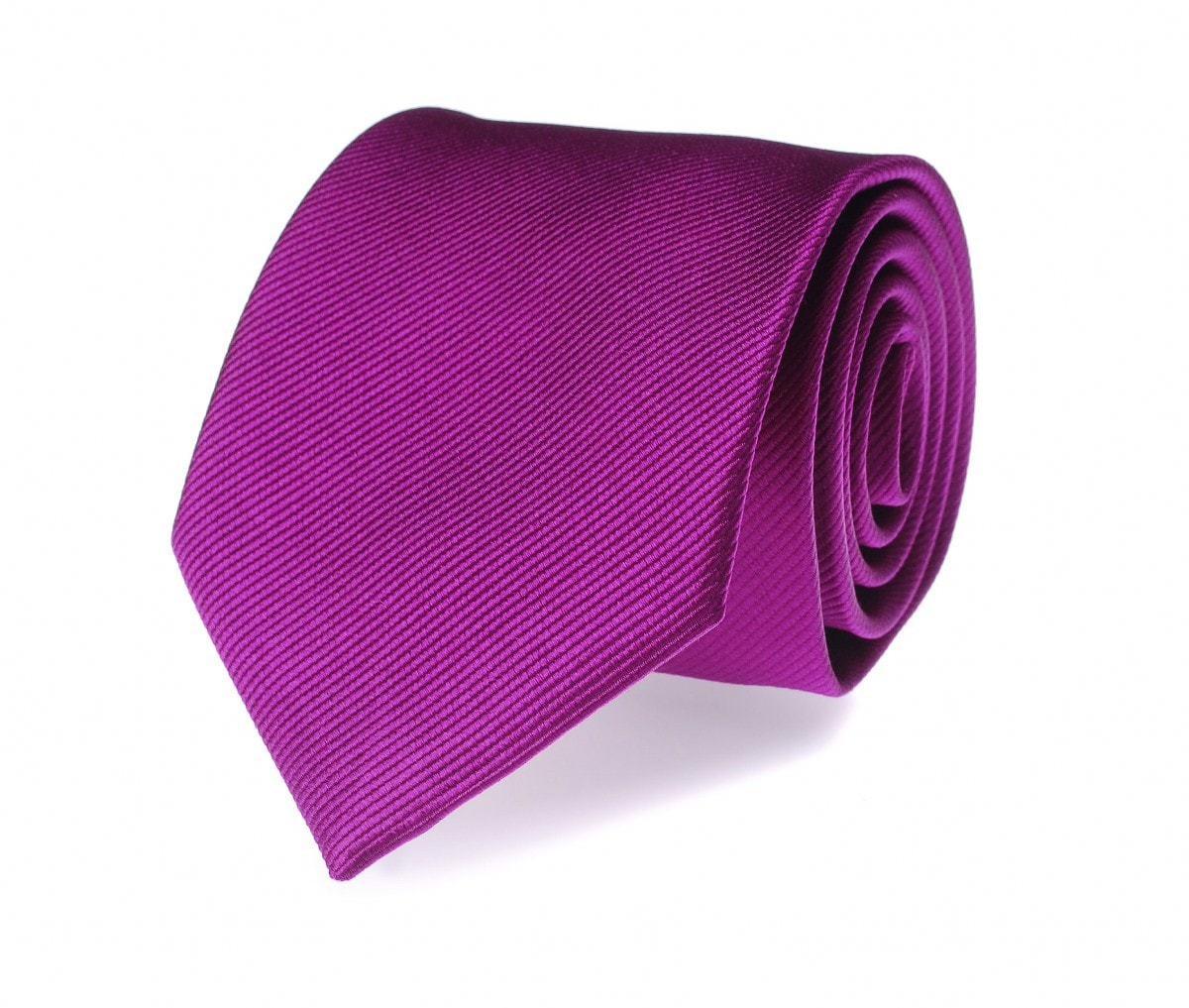 Silk Tie Aubergine F28 foto 0