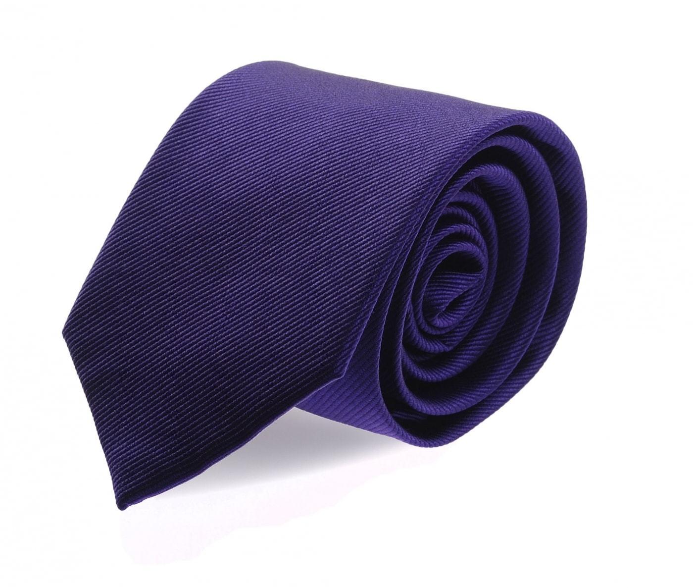 Krawatte Seide Blau Lila Uni F55 foto 0