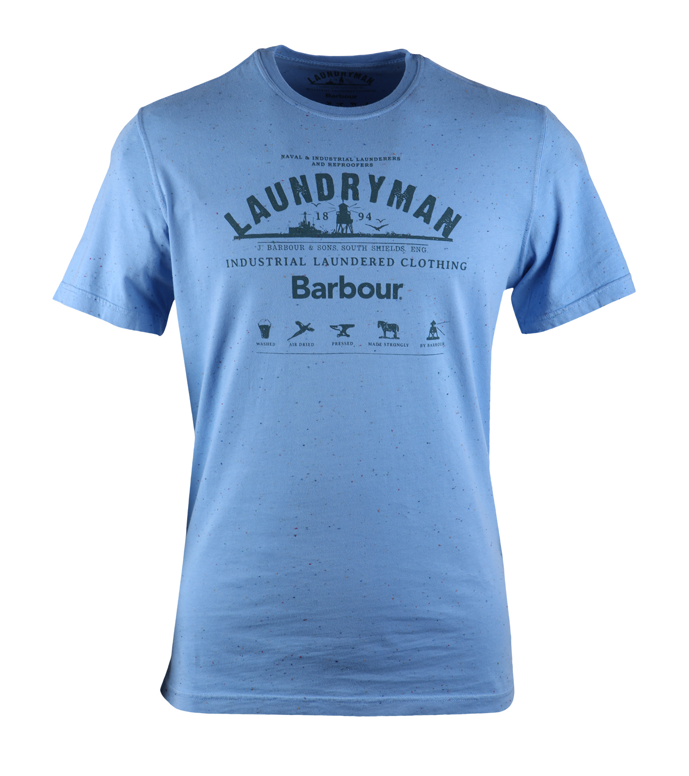 Barbour t shirt lichtblauw print for Home t shirt printer