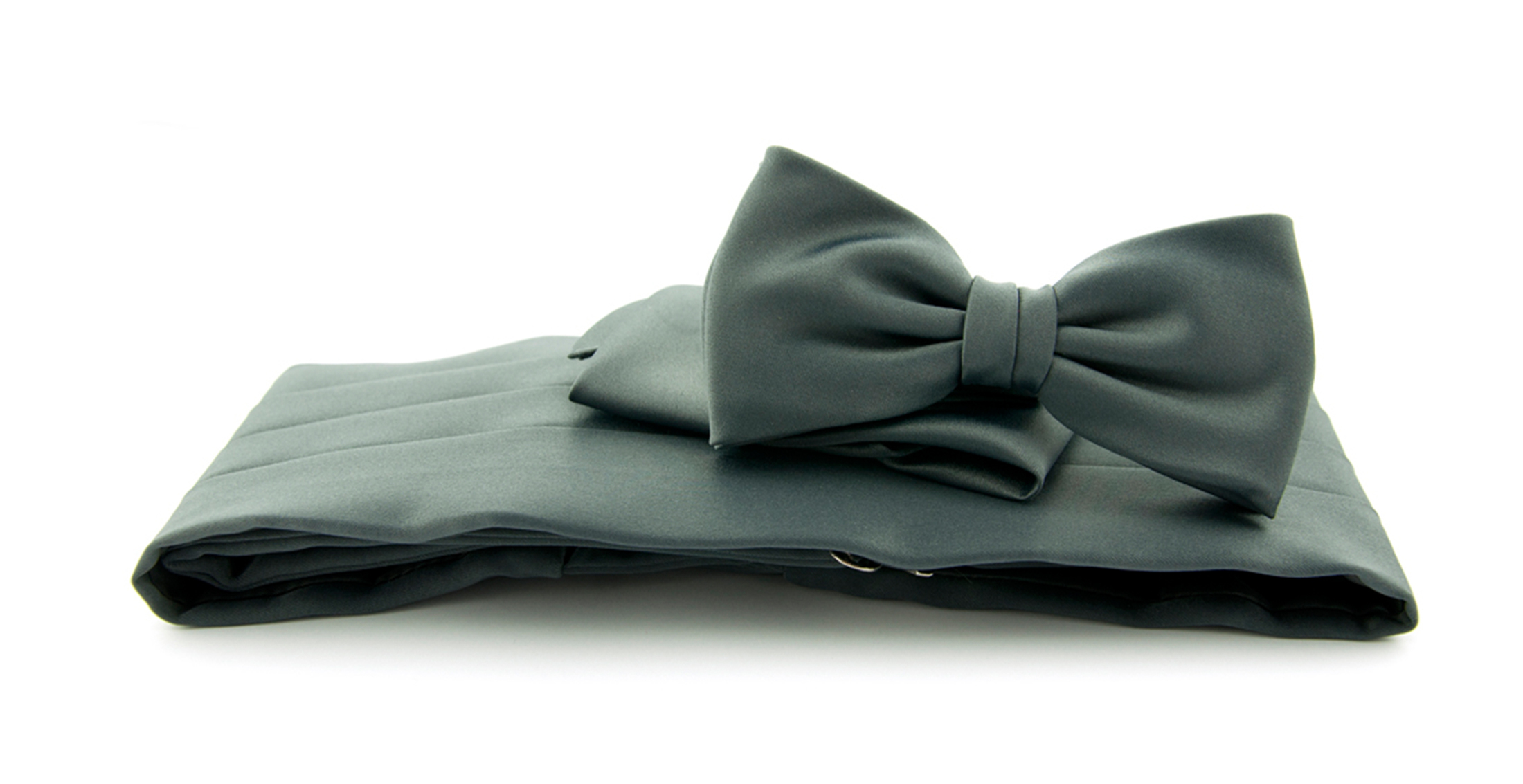 Cumberband + Bow Tie Dark Grey