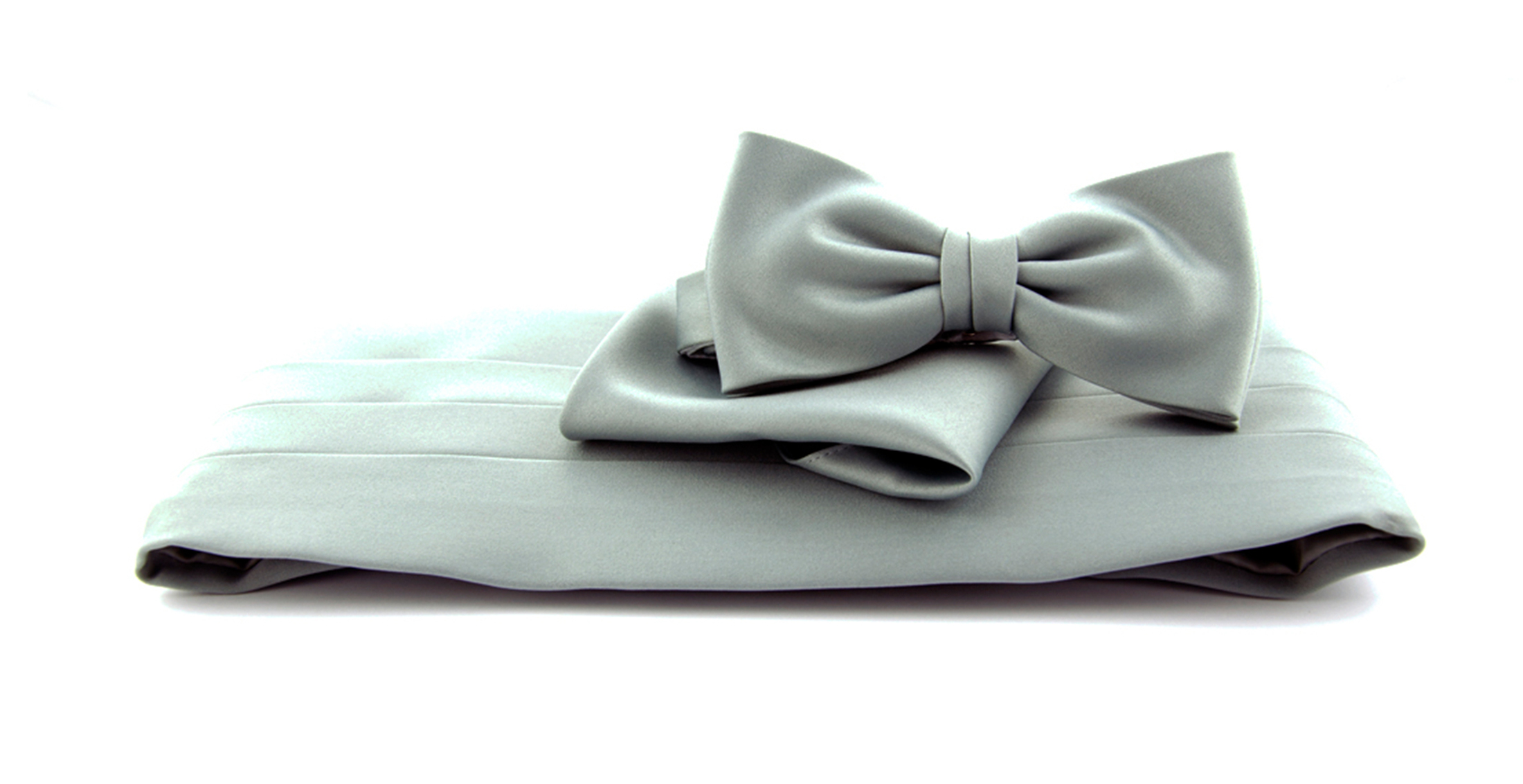 Cumberband + Bow Tie Grey foto 0