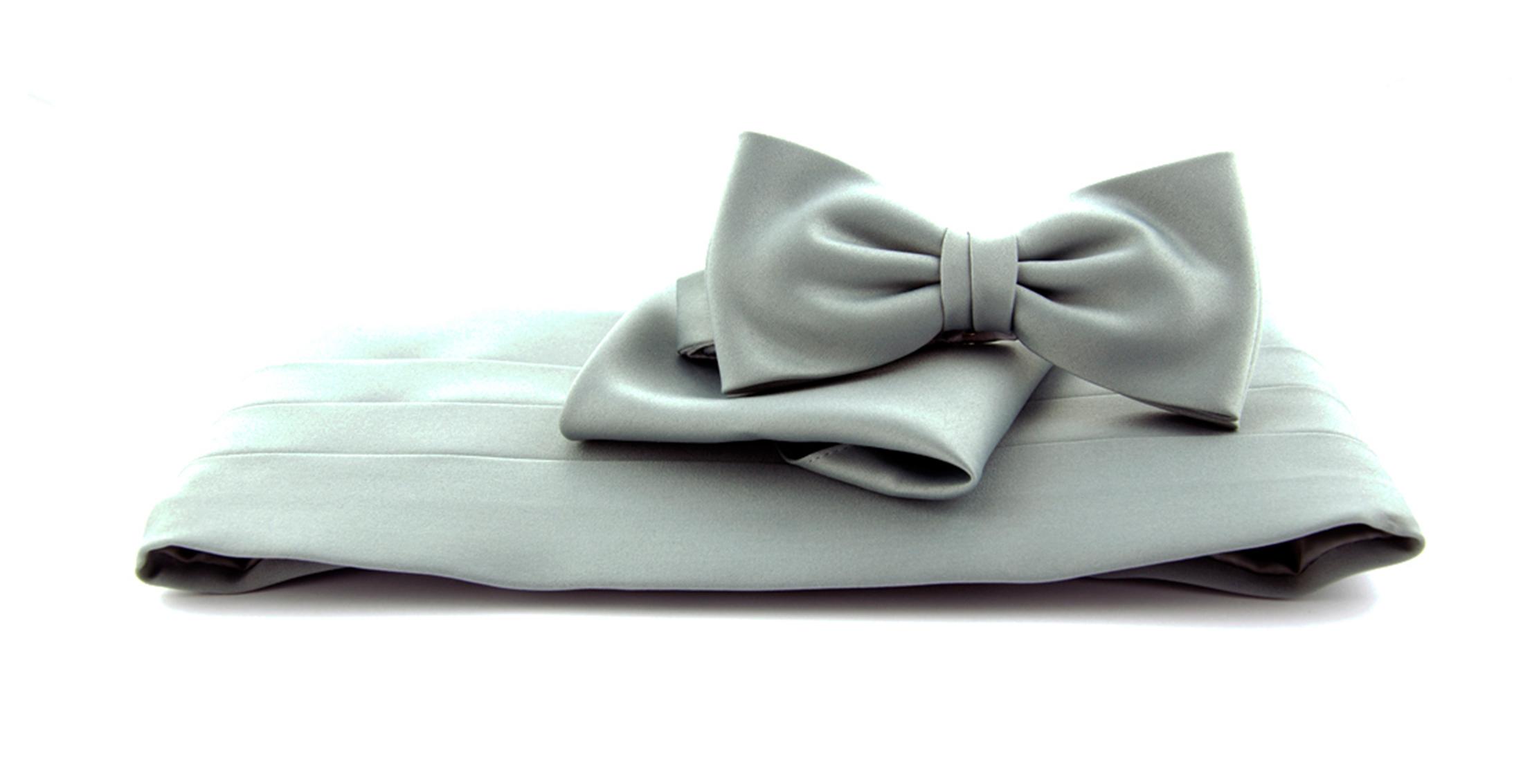 Cumberband + Bow Tie Grey
