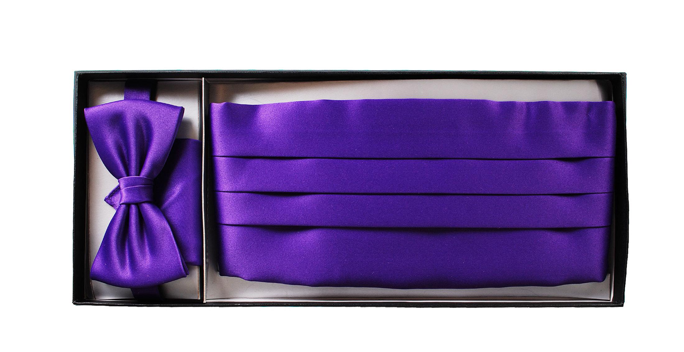 set kummerbund mit fliege und einstecktuch lila. Black Bedroom Furniture Sets. Home Design Ideas