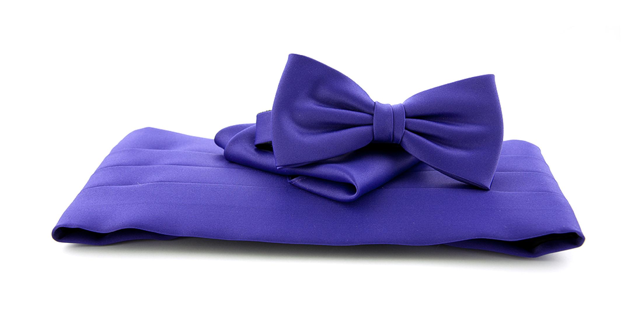 Cumberband + Bow Tie Purple foto 0