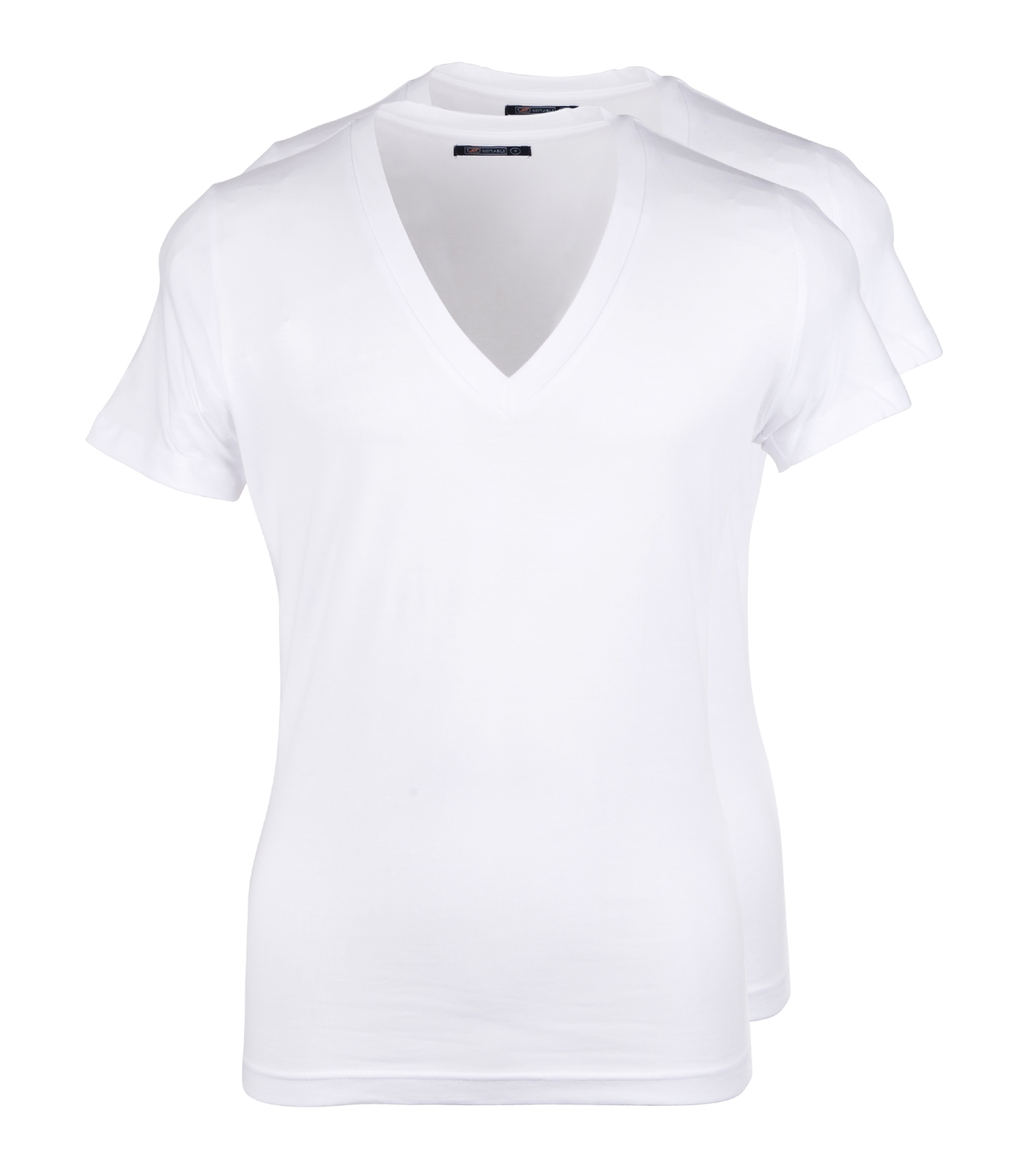 Diepe v hals 2 pack stretch t shirt for Designhotel maastricht comfort xl