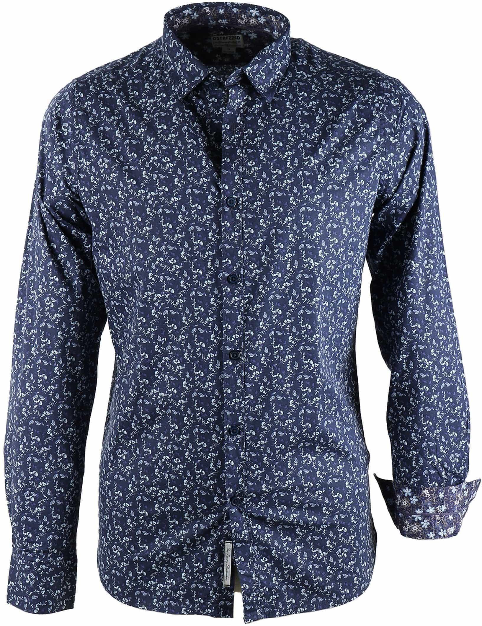 e40270affb7 Dstrezzed Flower Shirt Navy 303051-69