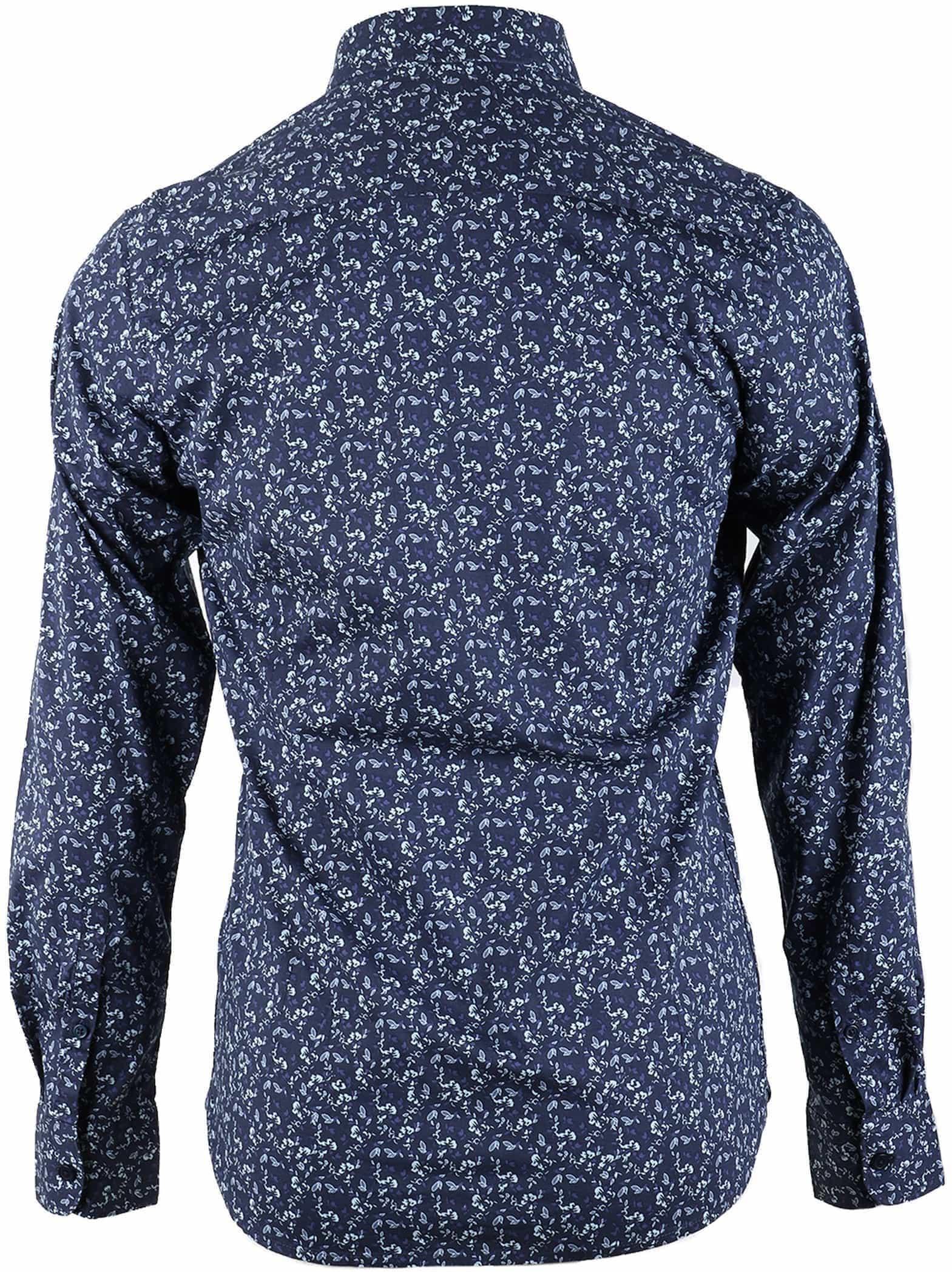 Dstrezzed Bloemetjes Overhemd Donkerblauw foto 1