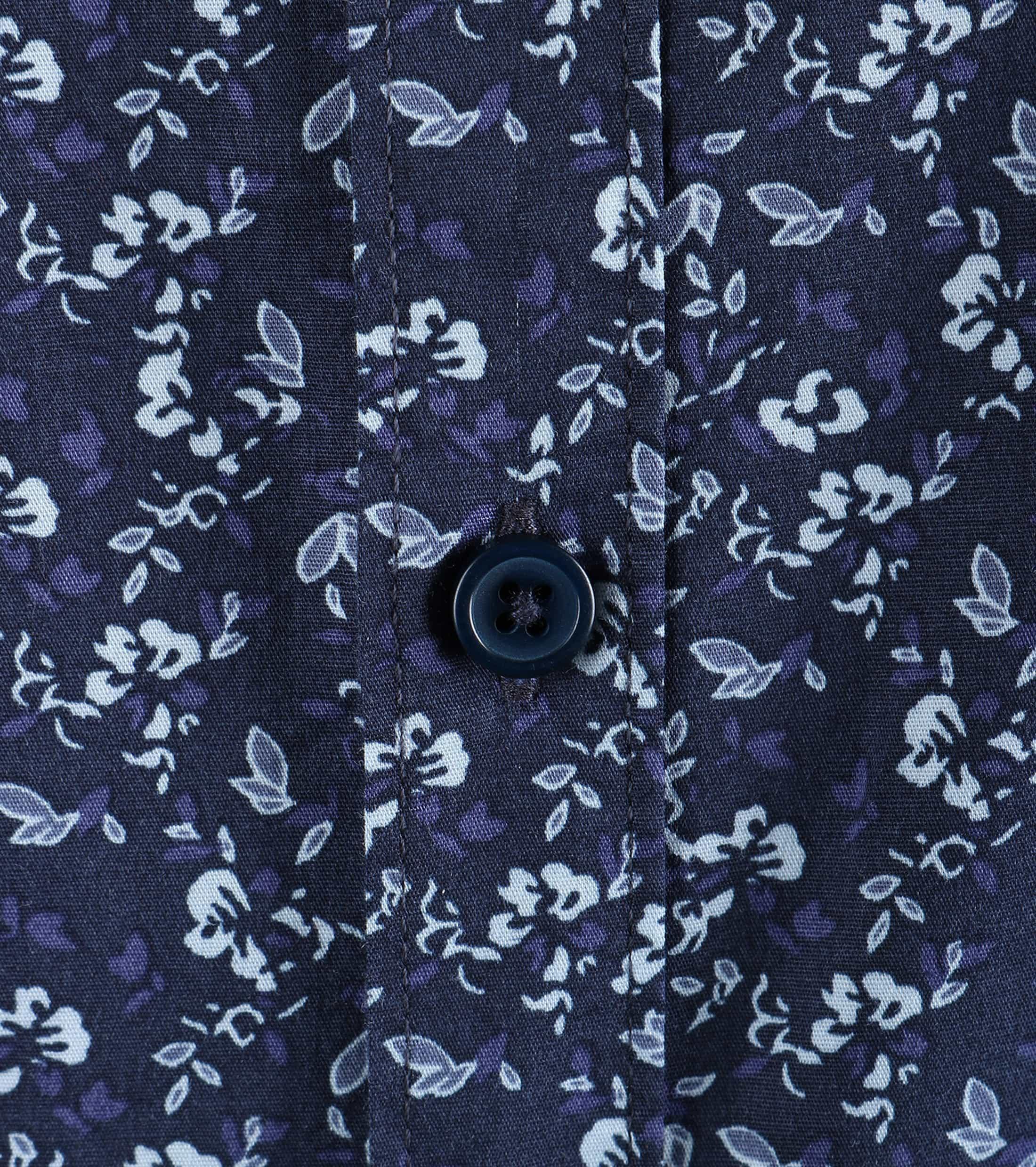 Dstrezzed Bloemetjes Overhemd Donkerblauw foto 3