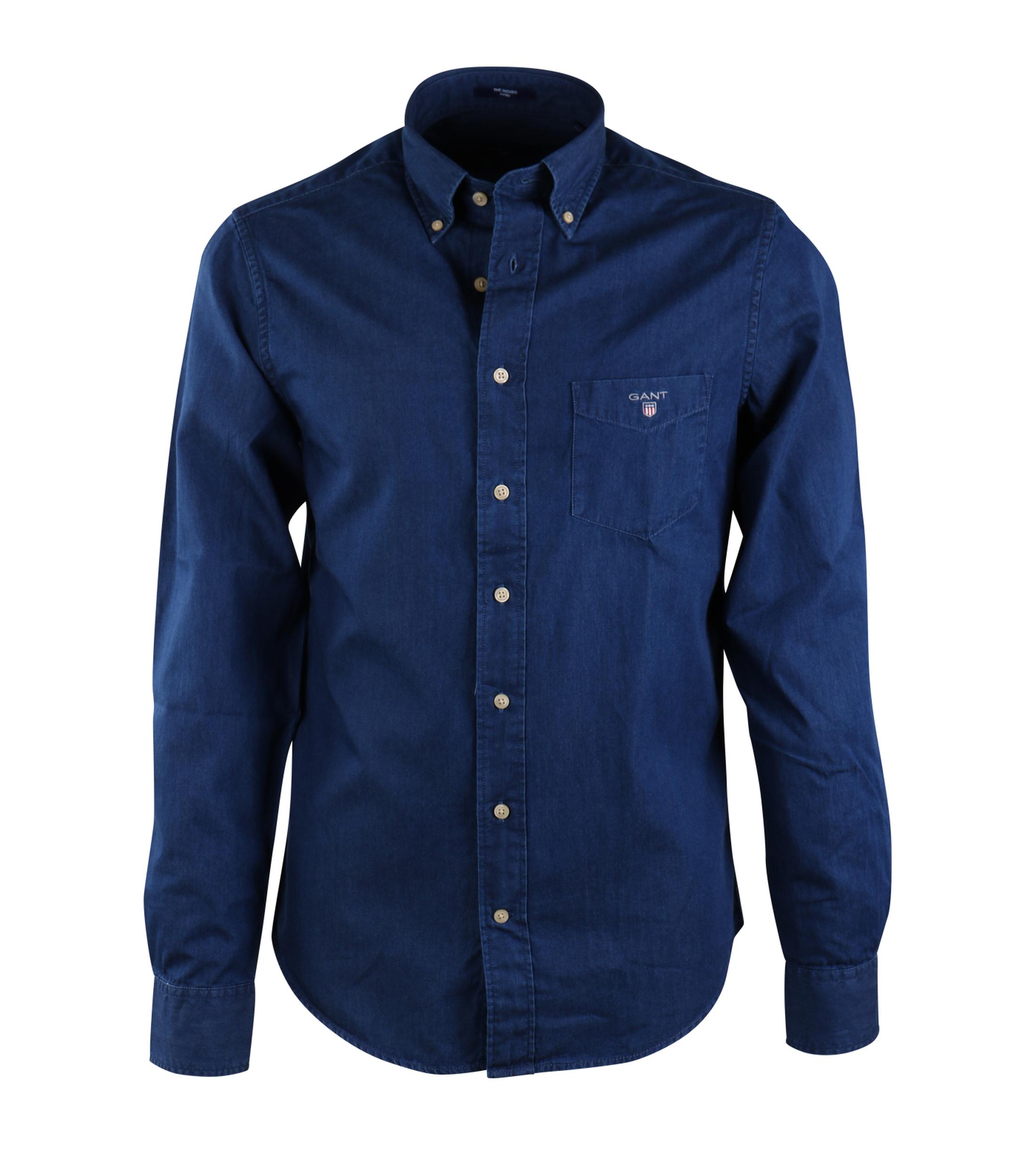 Gant overhemd dark indigo for Designhotel maastricht comfort xl