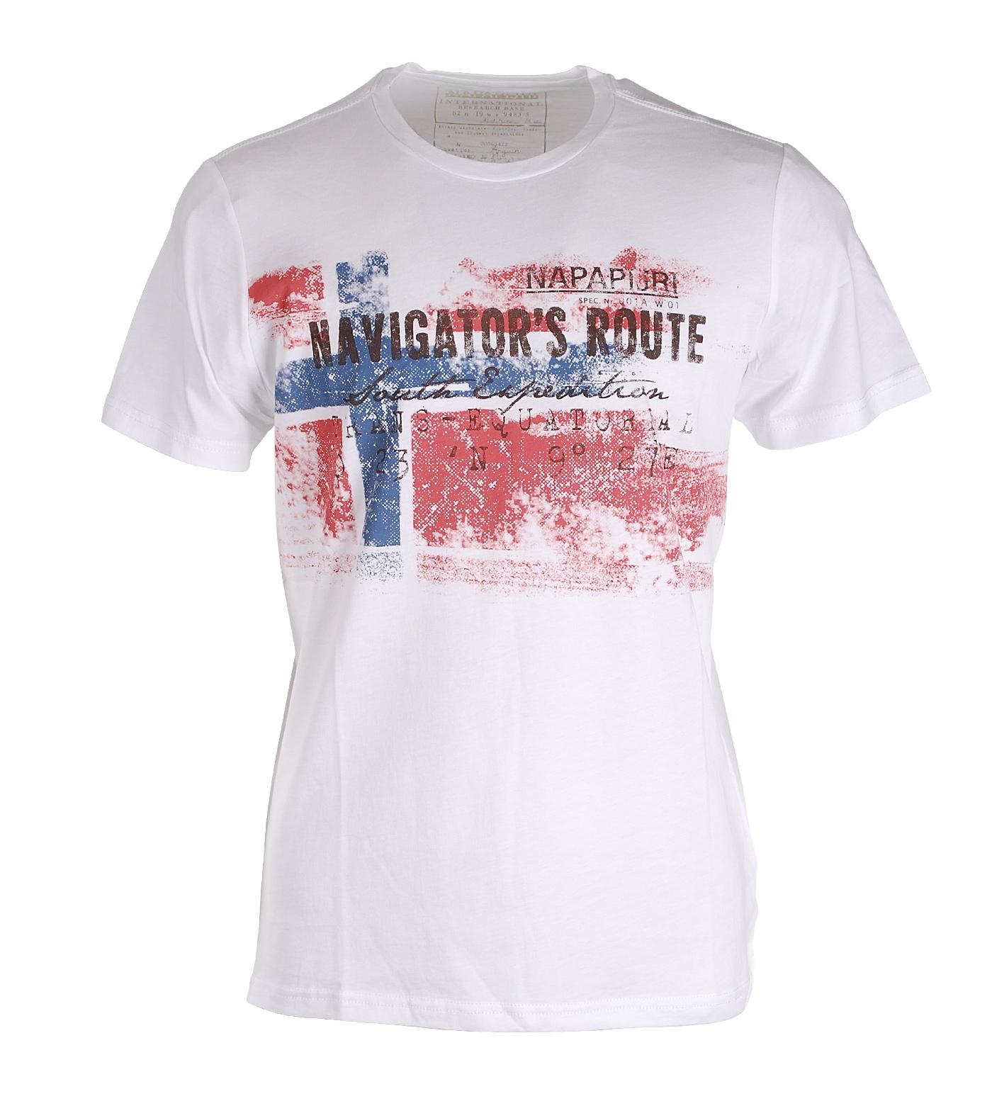 Napapijri t shirt secmara white for Designhotel maastricht comfort xl