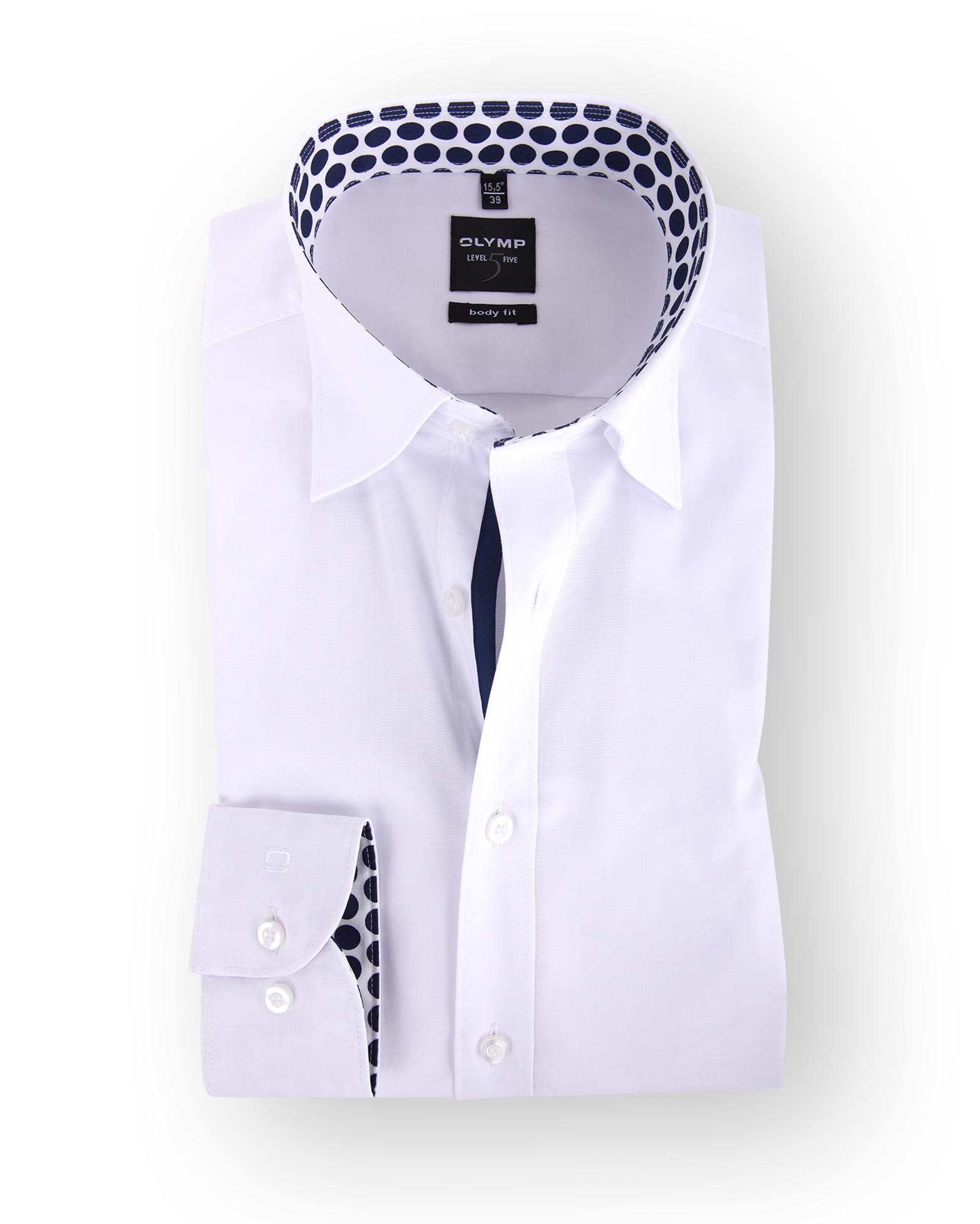 olymp body fit overhemd white dots. Black Bedroom Furniture Sets. Home Design Ideas