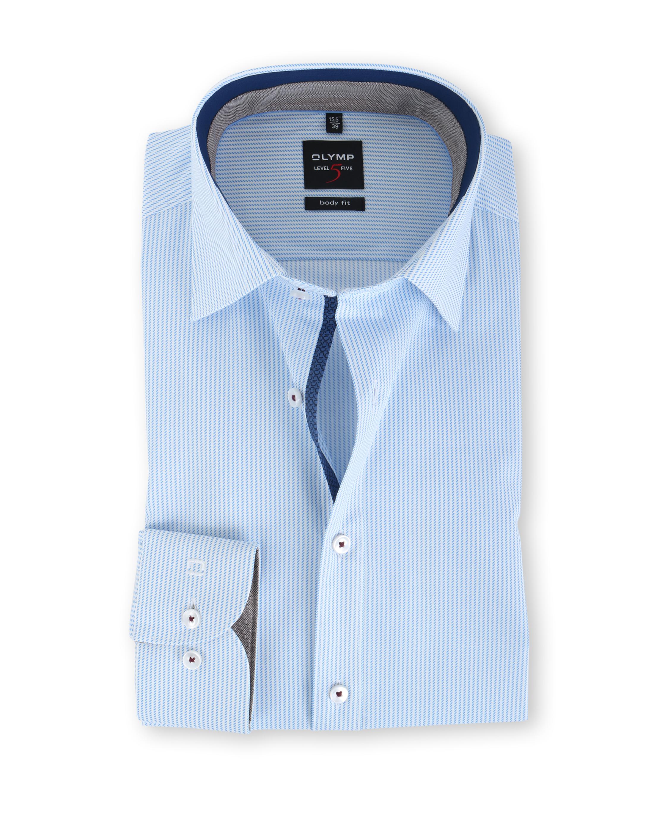 olymp body fit shirt blue stripe. Black Bedroom Furniture Sets. Home Design Ideas