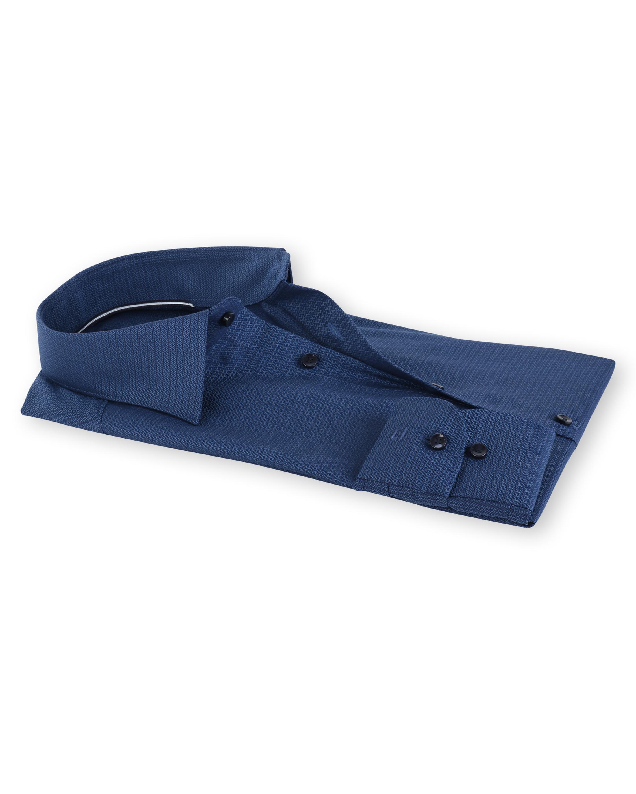 Olymp Level Five Body Fit Shirt Indigo