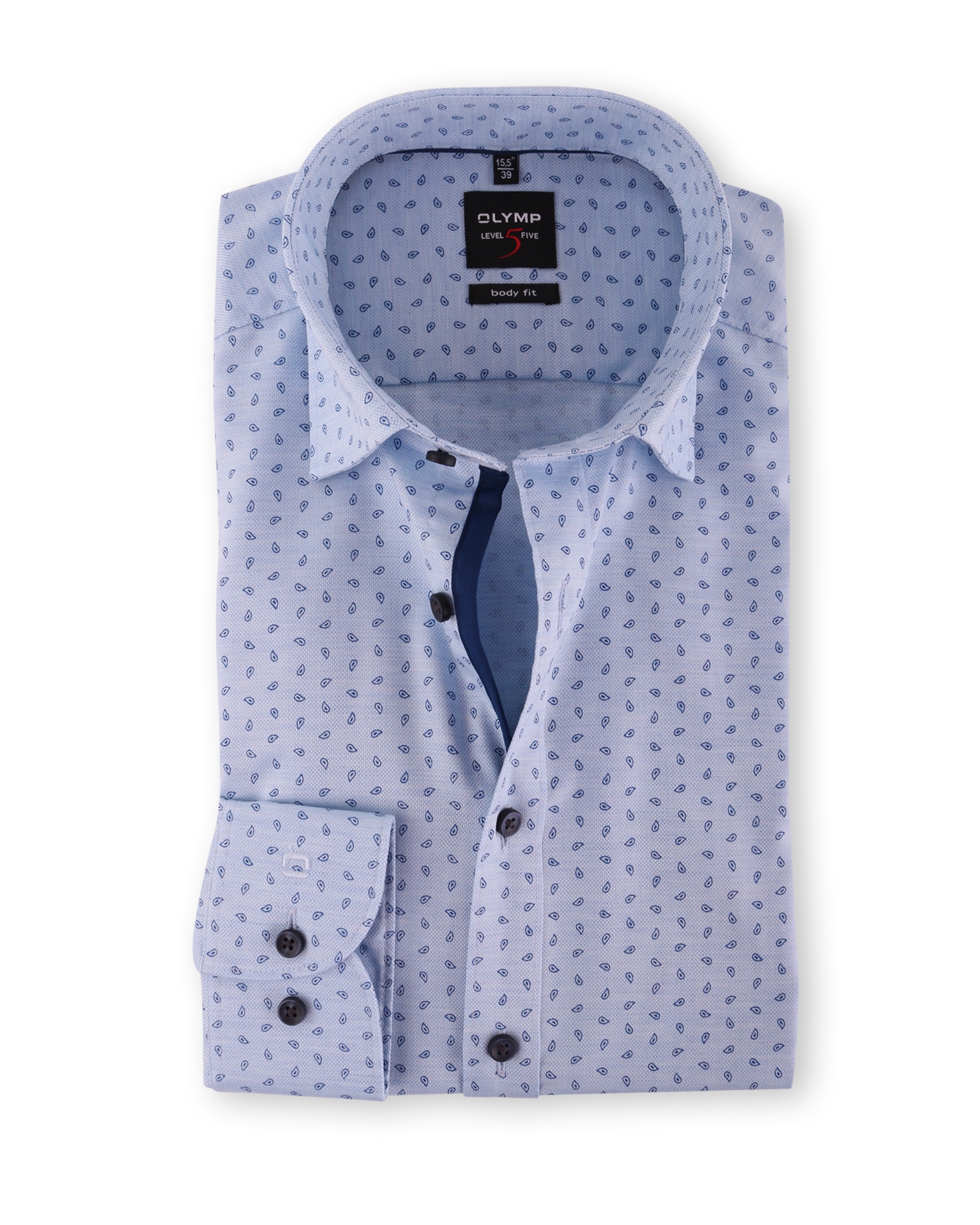 olymp shirt body fit blue drops. Black Bedroom Furniture Sets. Home Design Ideas