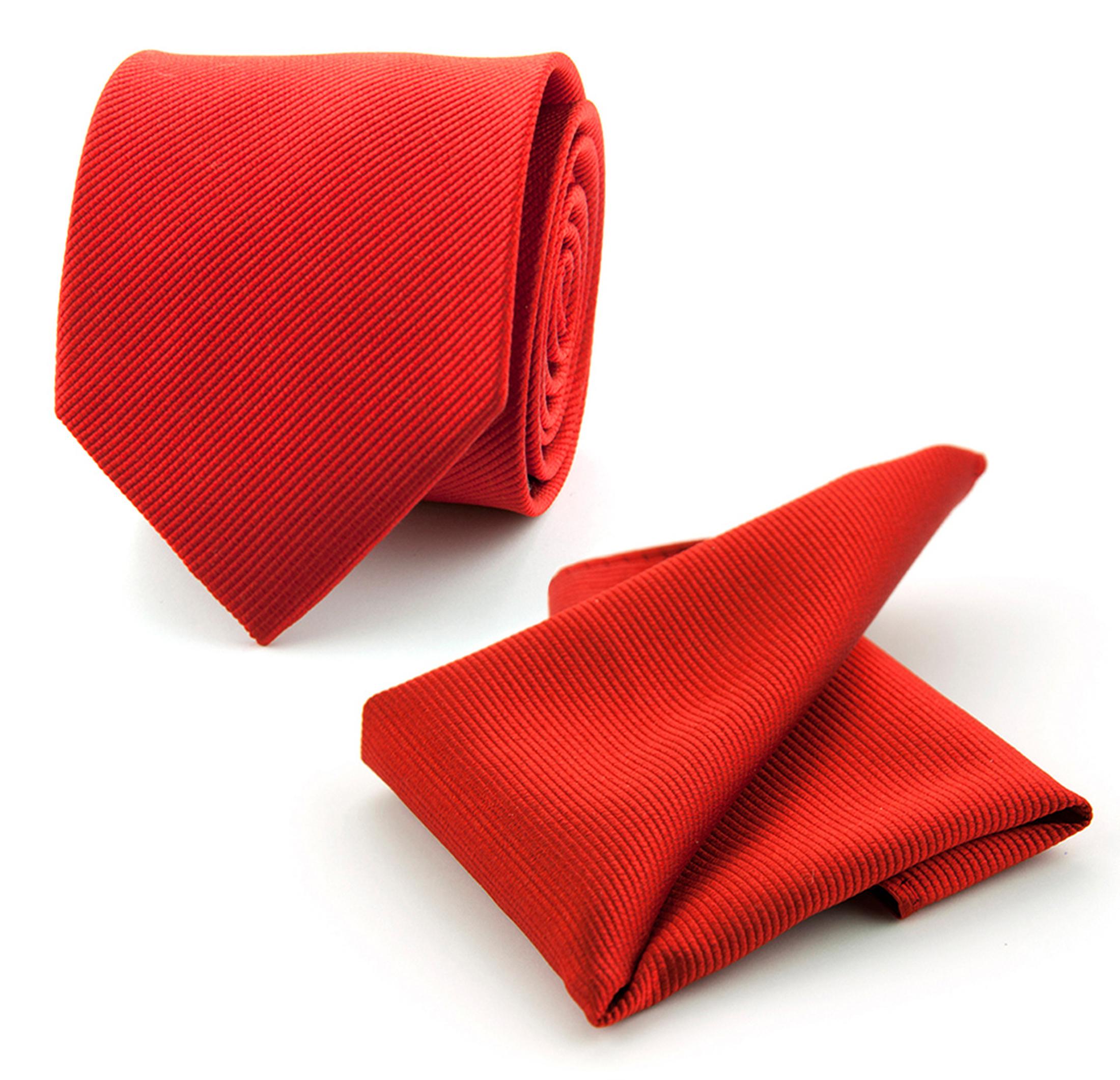krawatte und einstecktuch set seide knallrot f34. Black Bedroom Furniture Sets. Home Design Ideas