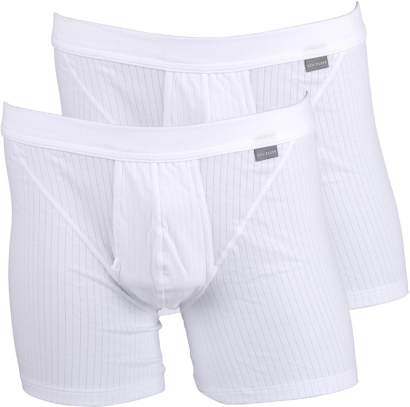 fd2e4e13672 Schiesser Boxer Shorts White Authentic 2-Pack 103399-100 Short 2P