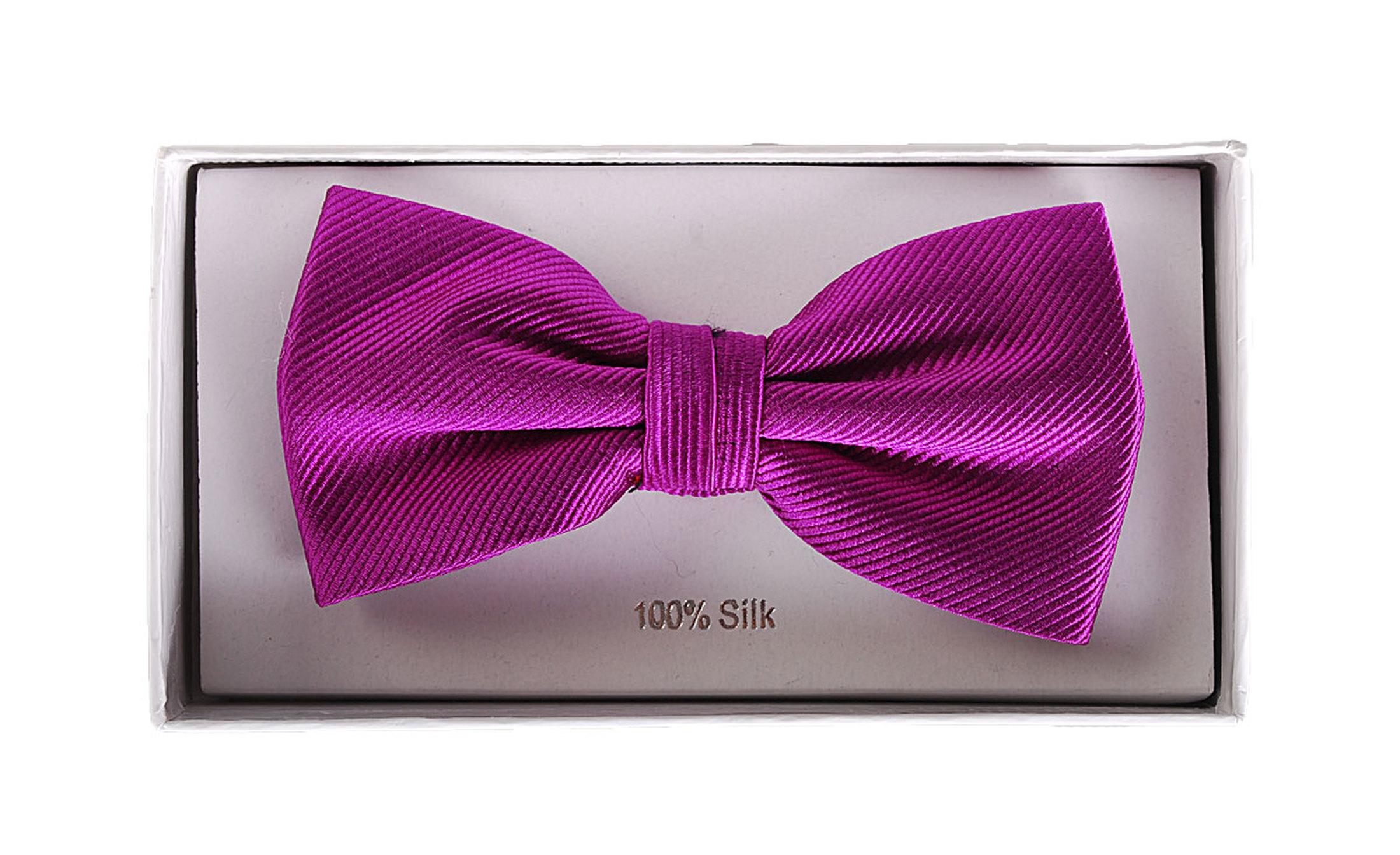 Bow Tie Silk Aubergine F28
