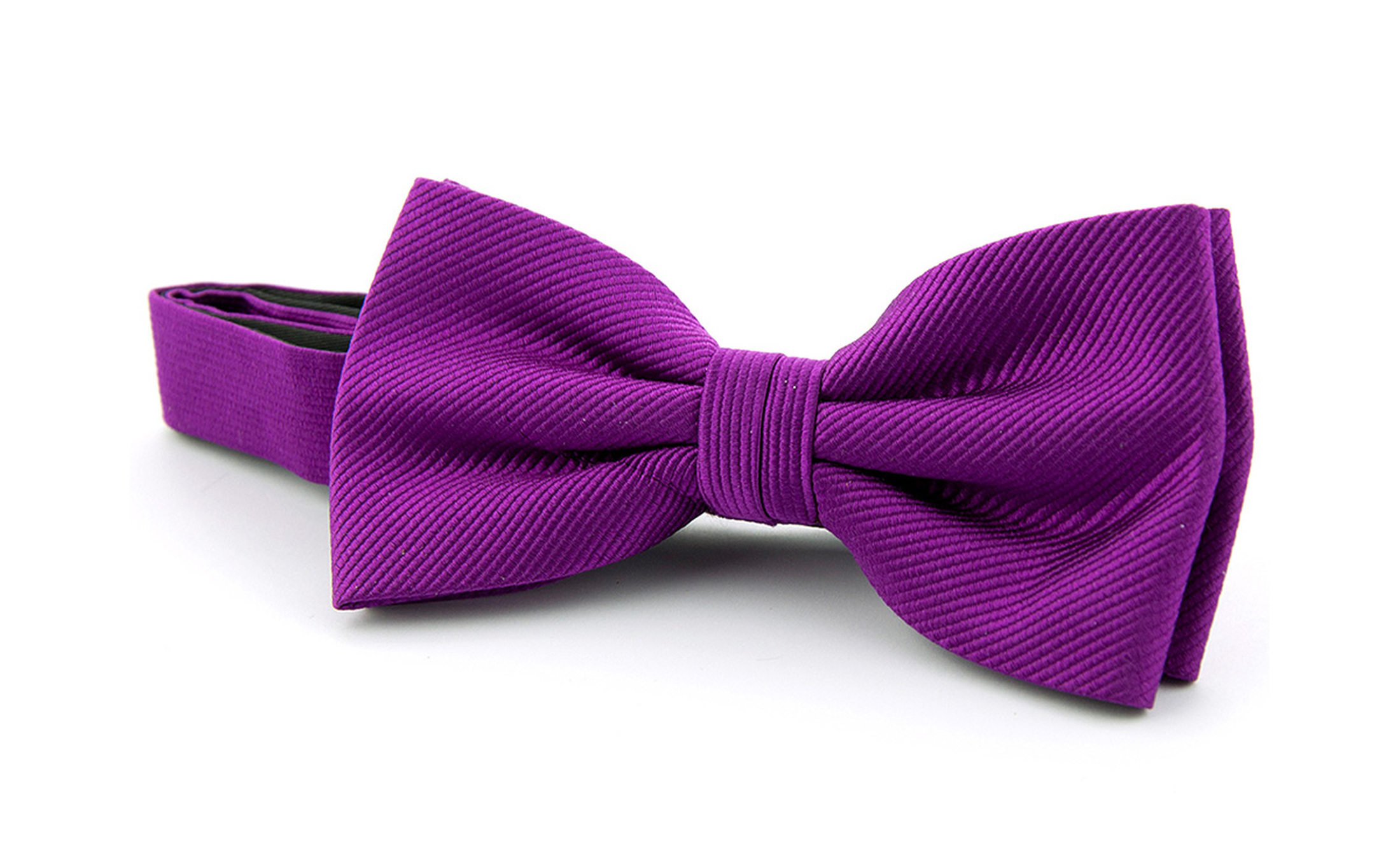 Bow Tie Silk Aubergine F28 9120728a How To A Knot With Foto 0
