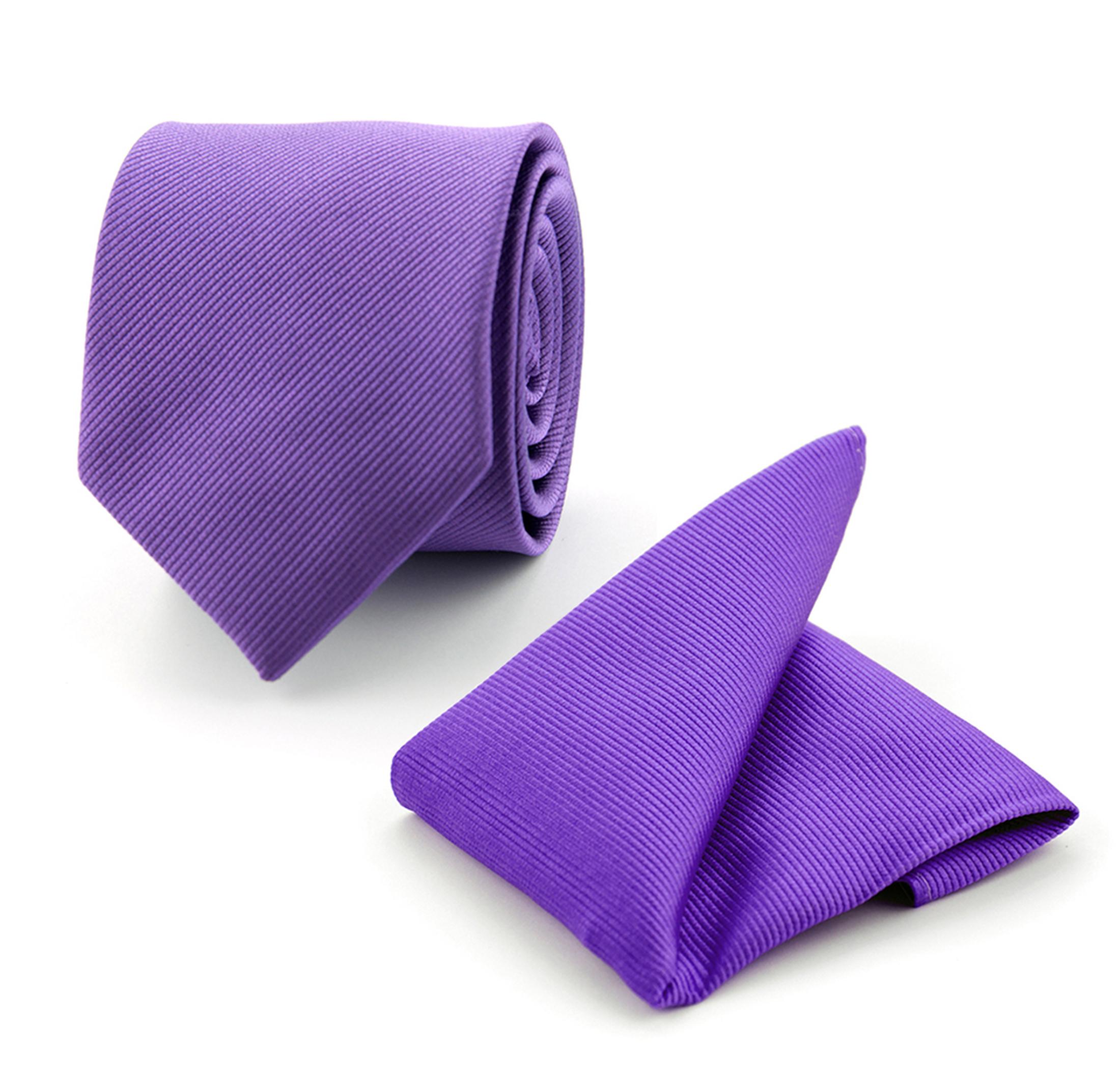 krawatte und einstecktuch set seide lila f30. Black Bedroom Furniture Sets. Home Design Ideas