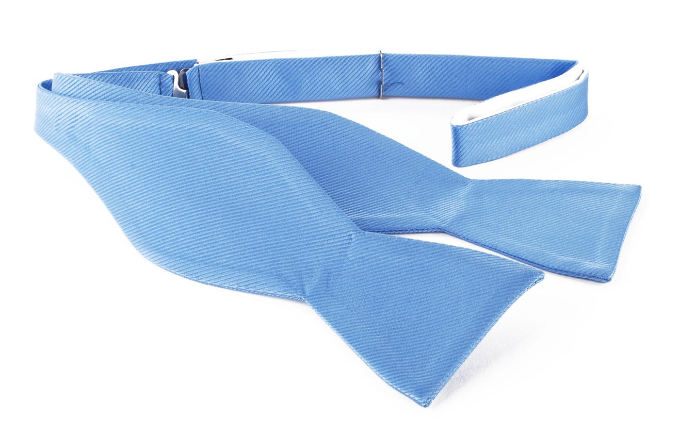 Zelfstrikker Zijde Blauw F02 foto 0