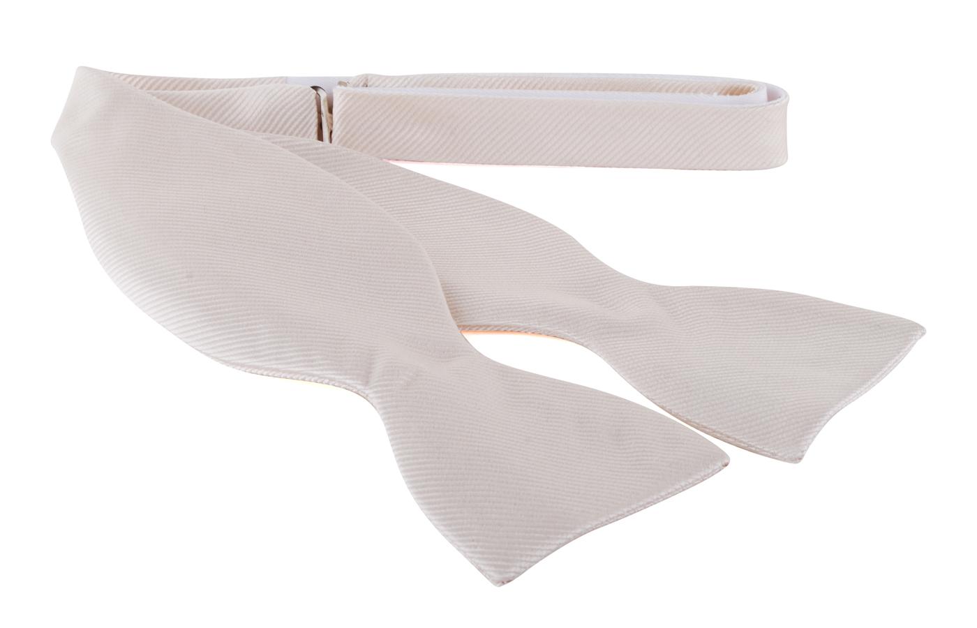 Self Tie Bow Tie Ecru F09