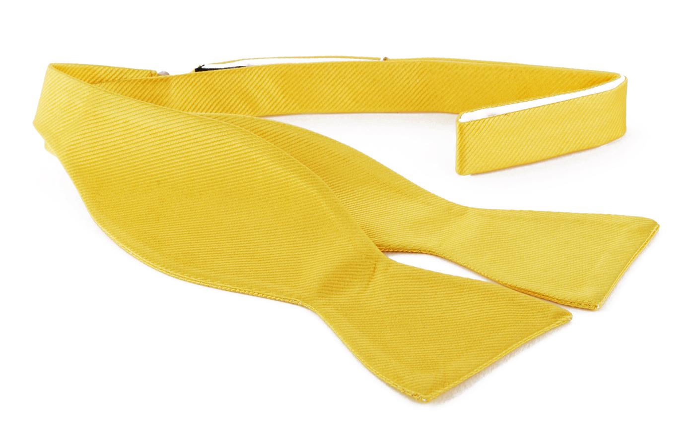 Self Tie Bow Tie Yellow F70 photo 0