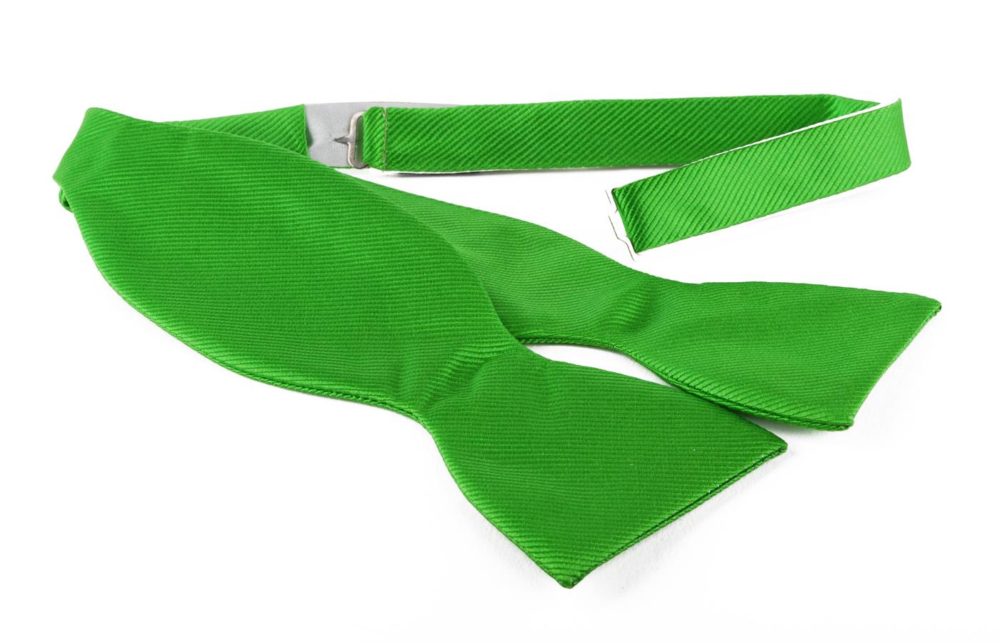 Self Tie Bow Tie Green F33 photo 0