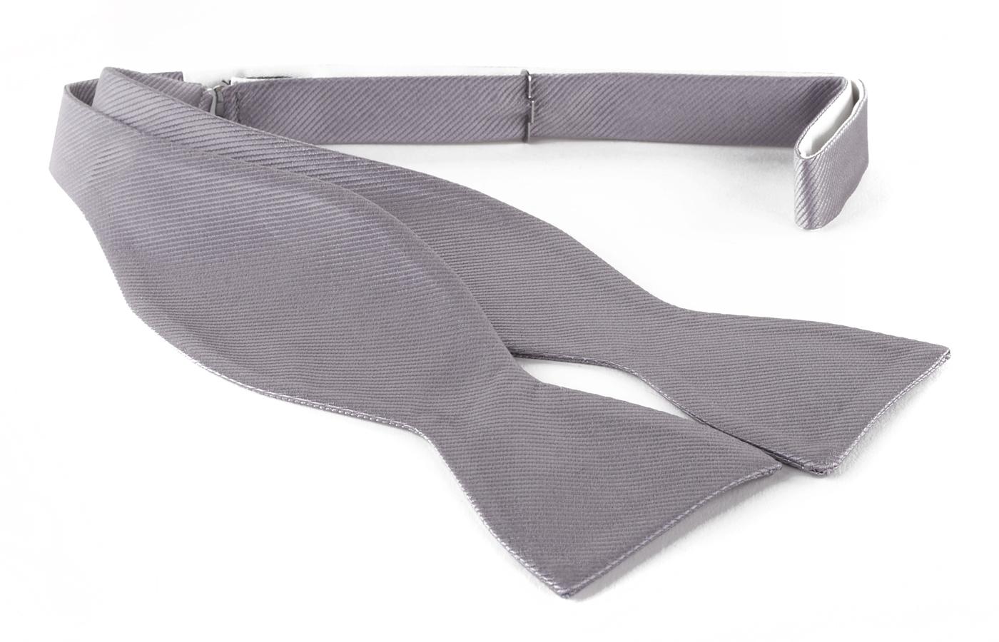 Self Tie Bow Tie Silver F48