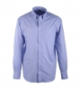Blauw Casual Overhemd Oxford