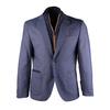 Blauw Visgraat Blazer Jacket