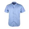 Casual Korte Mouw Overhemd Blauw