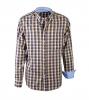 Casual Overhemd Okergeel Blauw