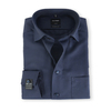Olymp SL7 Modern Fit Shirt Navy Pinpoint