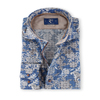 R2 Shirt Blauw Print Widespread