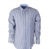 Shirt Hoge Boord Blue Blue Stripe