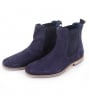 Suede Boots Chelsea Navy