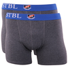 Suitable Boxershort 2Pack Antraciet Blauw