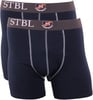 Suitable Boxershort 2Pack Donkerblauw Antraciet