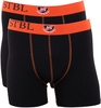 Suitable Boxershort 2Pack Zwart Oranje