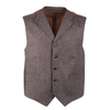 Suitable Gilet Bruin Herringbone