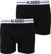 Alan Red Boxer Shorts Black 2-Pack