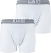 Alan Red Boxer Shorts White 2-Pack