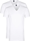 Alan Red Dean V-Hals T-Shirt Wit (2Pack)